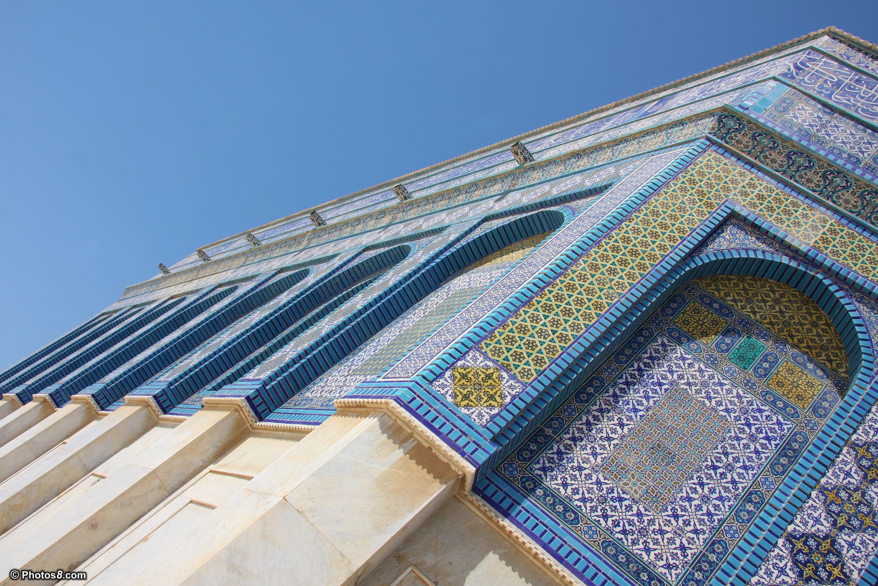 Islamic Architecture Walls of Dome of the Rock Mosque wallpaper